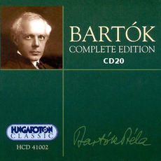Bartók Complete Edition, CD20 by Béla Bartók