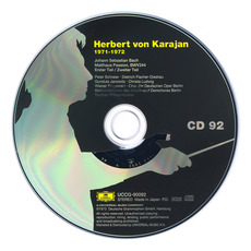 Herbert von Karajan: Complete Recordings on Deutsche Grammophon, CD92 mp3 Artist Compilation by Johann Sebastian Bach